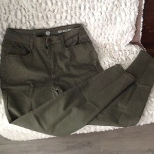 SO high rise jegging - Green